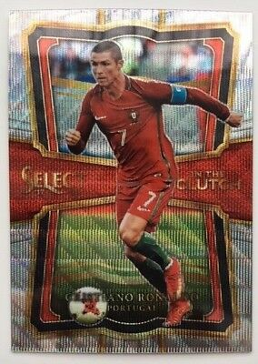 45f8c8436a0 2017-18 Panini Select In the Clutch Prizm CRISTIANO RONALDO Portugal  IC2