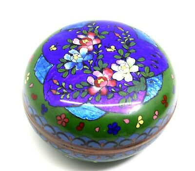 A Japanese Cloisonne Kogo With Royal Blue And Olive Green Ground Circa 1910