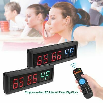 Programmable LED Interval Timer Big Stopwatch Home Gym CrossFit Fitness Yoga NEW