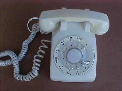 Nice White Western Electric Rotary Dial Desk Telephone -Tested and Working!
