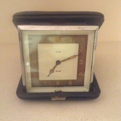 Smiths 8 day art deco wind up travel/small clock