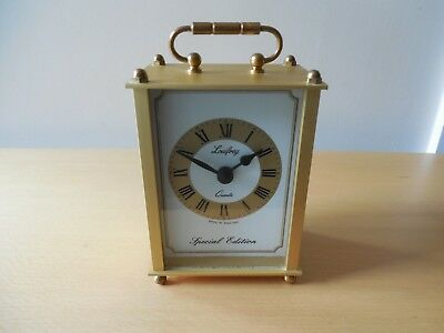 Vtg. Luifrey Special Edition, Satin Brass Cased, Carriage Clock, Quartz Movement