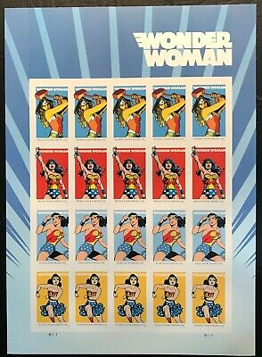 2016 Scott #5149-5152 - Forever - Wonder Woman - Full Sheet of 20 - Mint NH