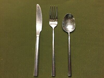 commercial cutlery. Utopia 18-10 knife, fork, spoon x 10. used. Pub/café