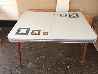 Vintage Mid Century Modern Formica Table Atomic Star