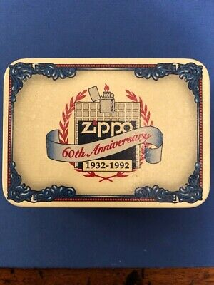 Zippo Lighter From 1992 60th Anniversary edition In Supreme Condition