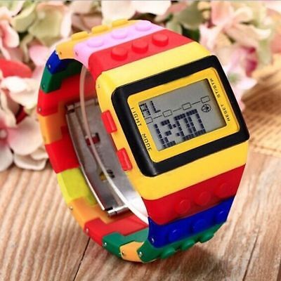 For Kids Boys Girls New Cool Digital Watch Children Teen Gift Lego Colorful