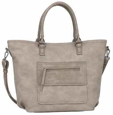b937317127c47 TOM TAILOR Denim Nomy Shopper Schultertasche Marken Damentasche Tasche in  Grau