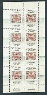 Canada #1900i Full Pane Accent Above R in Three Variety MNH ** Free Shipping **