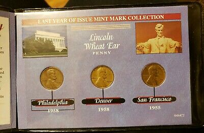 Complete Lincoln Wheat-Ear Cent Collection Album 1955 1958, P, D & S cool book