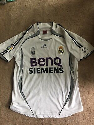 583851f3669 ADIDAS REAL MADRID Soccer Jersey David Beckham Siemens Mobile Black ...