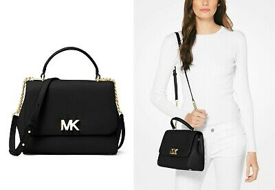 f3cd2278fd9b79 MICHAEL KORS MOTT Medium Top Handle Satchel Black w/ Dust Bag NWT ...