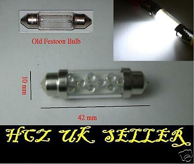 Ford Mondeo MK3 264 42mm Rainbow Interior Courtesy Bulb LED 6-SMD Light Upgrade