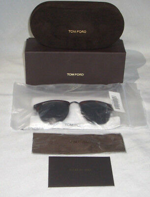 77aba9f1e1 TOM FORD HENRY TF 248 52A DARK HAVANA w  SMOKE 51mm AUTHENTIC ITALY NEW IN