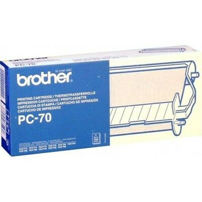 2x BROTHER PC-70 FAX MACHINE PRINTING CARTRIDGE NEW AND BOXED FAX