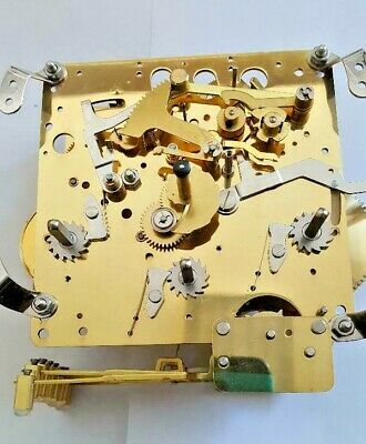 Hermle Mantel clock movement 1052-020 with  11 Jewels  3 chimes with second hand