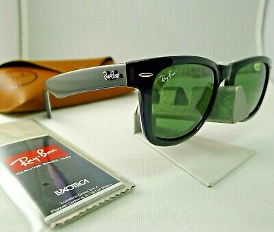 b1ea15933 Ray-Ban Rb2140 1046 Wayfarer Comics Black Green Classic G-15 Sunglasses New  Rare