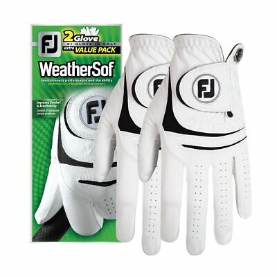 New Footjoy Weathersof Golf Glove 2 Pack - Prior Generation - Choose Size