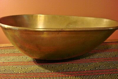 Antique Scale Pan Tray Scoop Vintage Scales Brass  15 1/2 inches