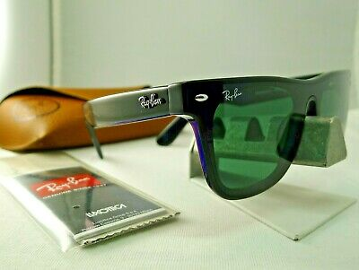 70cfeb0df5f Ray-Ban Rb4440Nf 601 71 Blaze Wayfarer Black Green Classic Sunglasses New