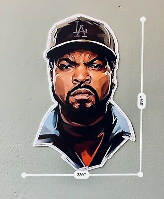 Ice Cube UV Proof Vinyl Sticker~Westcoast Rap~Gangsta Rap~90's Rap