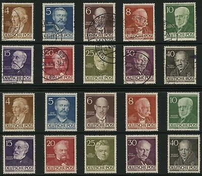 BERLIN 1952 FAMOUS BERLINERS COMPLETE SETS UNMOUNTED MINT + FINE USED...cv £200+