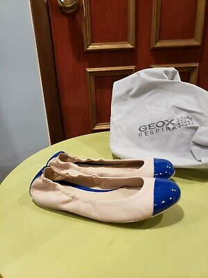 021359b6d93c Geox Flats Never Worn Size 38 Beige Leather with Blue Accents. Great for  work!