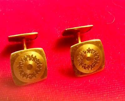 Art Deco two-sided gold filled  cufflnks 1920's - 30's.  An unusual gift!