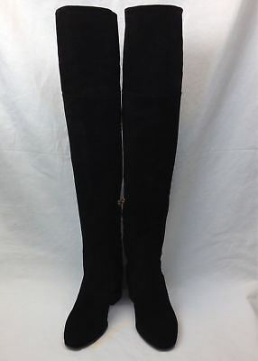 18cf6fa66d7 NEW JIMMY CHOO Harmony Over the Knee Boots Metallic Brown 38.5 ...