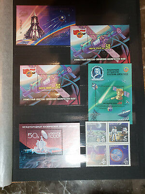 9 ( !!! )  PAGES RARE SPACE STAMPS and SOUVENIR SHEETS , MNH !!!