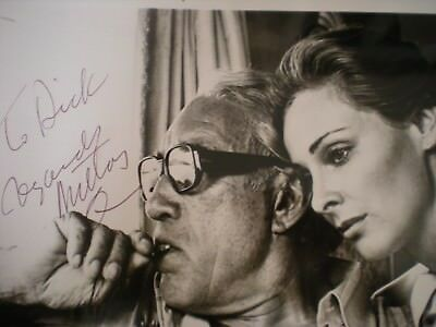 """Hand Signed Vintage Photo Anthony Quinn With Camilla Sparv-""""greek Tycoon"""" -Coa"""