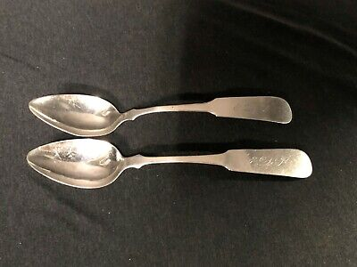 Rare M. WHITNEY (M. F. WHITNEY Schenectady, NY  c. 1823-1824 COIN SILVER SPOONS