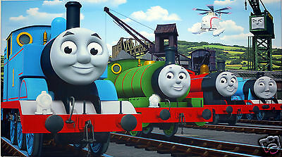 Thomas The Tank Engine Canvas Print Wall Art  Picture  18 X 32 Inch