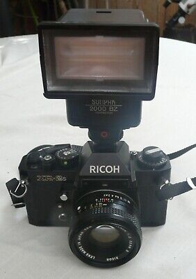 RICOH XR-2s Camera with Sunpak 2000 BZ Flash in Optex Case