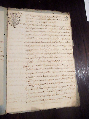 Manoscritto di Antico Rogito , documento del 1798 di Modena