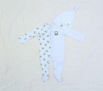 Burberry Little Green Sheep White Babygrow & Hat All Sizes Stunning Rrp £140.00