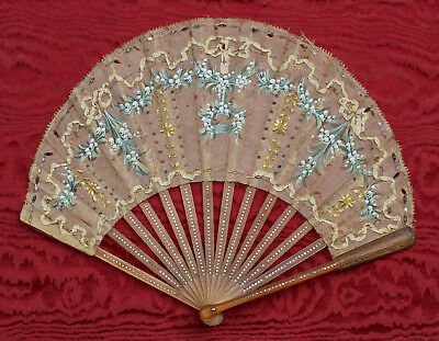 Antico ventaglio dipinto Liberty Art Nouveau antique painted fan