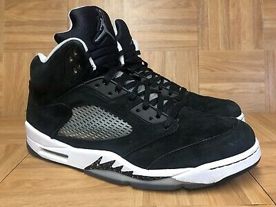8af136dbad0f RARE🔥 Nike Air Jordan 5 V Retro OREO Black White Cool Gray Size 14 136027