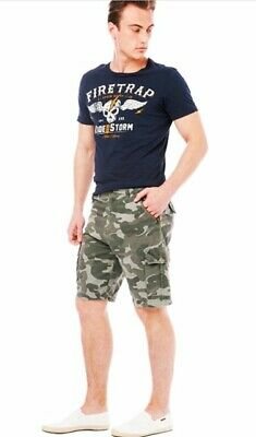 Mens Army Casual Work Cargo Combat Camouflage Shorts Cotton Chino Half Pant