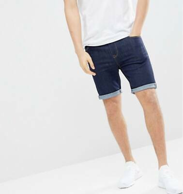 Mens New Stretch Denim Chino Shorts summer Causal Half Pant and Denim  Roll Up