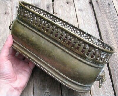 Vintage Brass Planter / Pot / Tub / Garden Trough Jardiniere