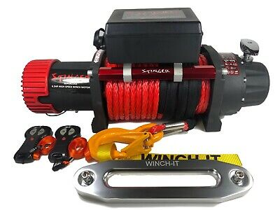 13500lb ELECTRIC RECOVERY WINCH 12v 216:1 High Speed OFF ROAD SPEC 4x4
