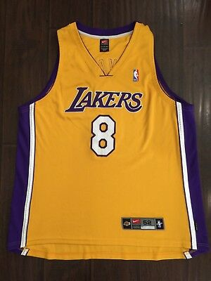 6f50c9e15 RARE🔥 Nike NBA Los Angeles Lakers Kobe Bryant Authentic Dri-Fit Sewn  Jersey 52