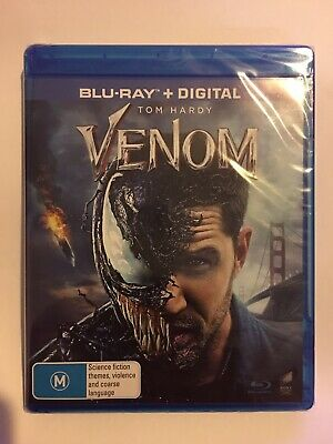 Venom Blu Ray Movie 🍿 Brand New & Sealed Rated M Tom Hardy Multi Region A B & C