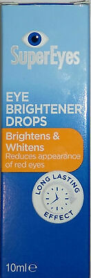 SuperEyes Brightener Eye Drops 10ml - Reduces Appearance of Red Eyes