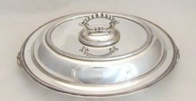 Antique Silver Plated Serving Tureen / Warmer 19th Century Victorian