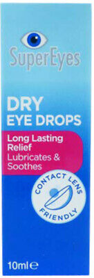 SuperEyes Dry Eye Drops 10ml - Lubricates & Soothes, Long Lasting Relief