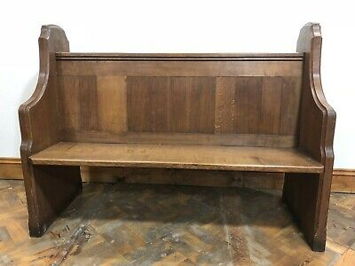 Rare Solid Oak Chorister Church Pew from St Elvan's Church - Delivery Available