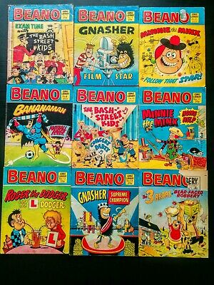 Beano UK Comic Library, Job Lot of 9 Random Issues 1982, Vintage (#2 - #16)