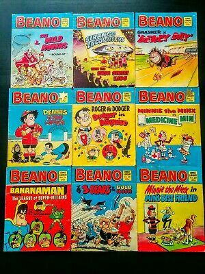 Beano UK Comic Library, Job Lot of 9 Random Issues 1983, Vintage (#18 - #29)